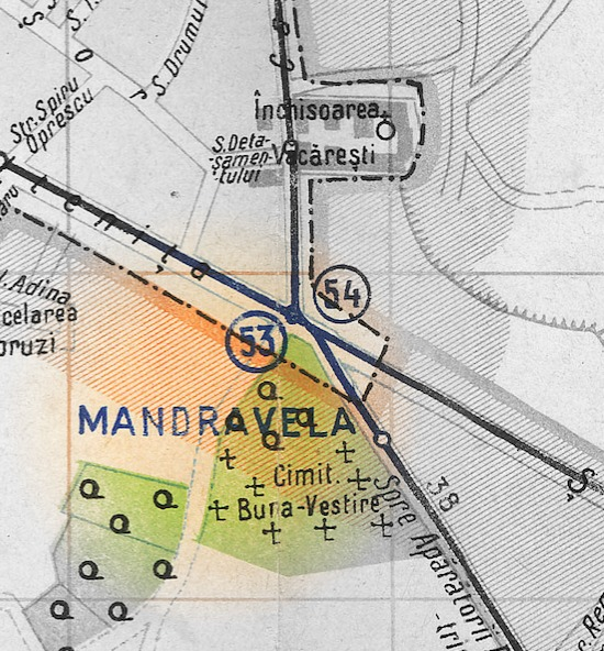 cârciumarul Mandravela harta