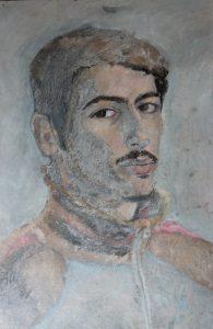 Autoportret 35x50, ulei pe carton 2010