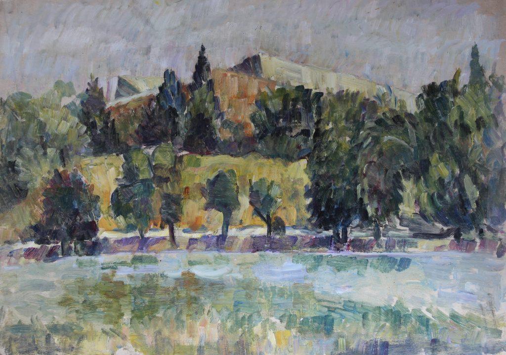 Sala Polivalenta 35x50, ulei pe carton 2009