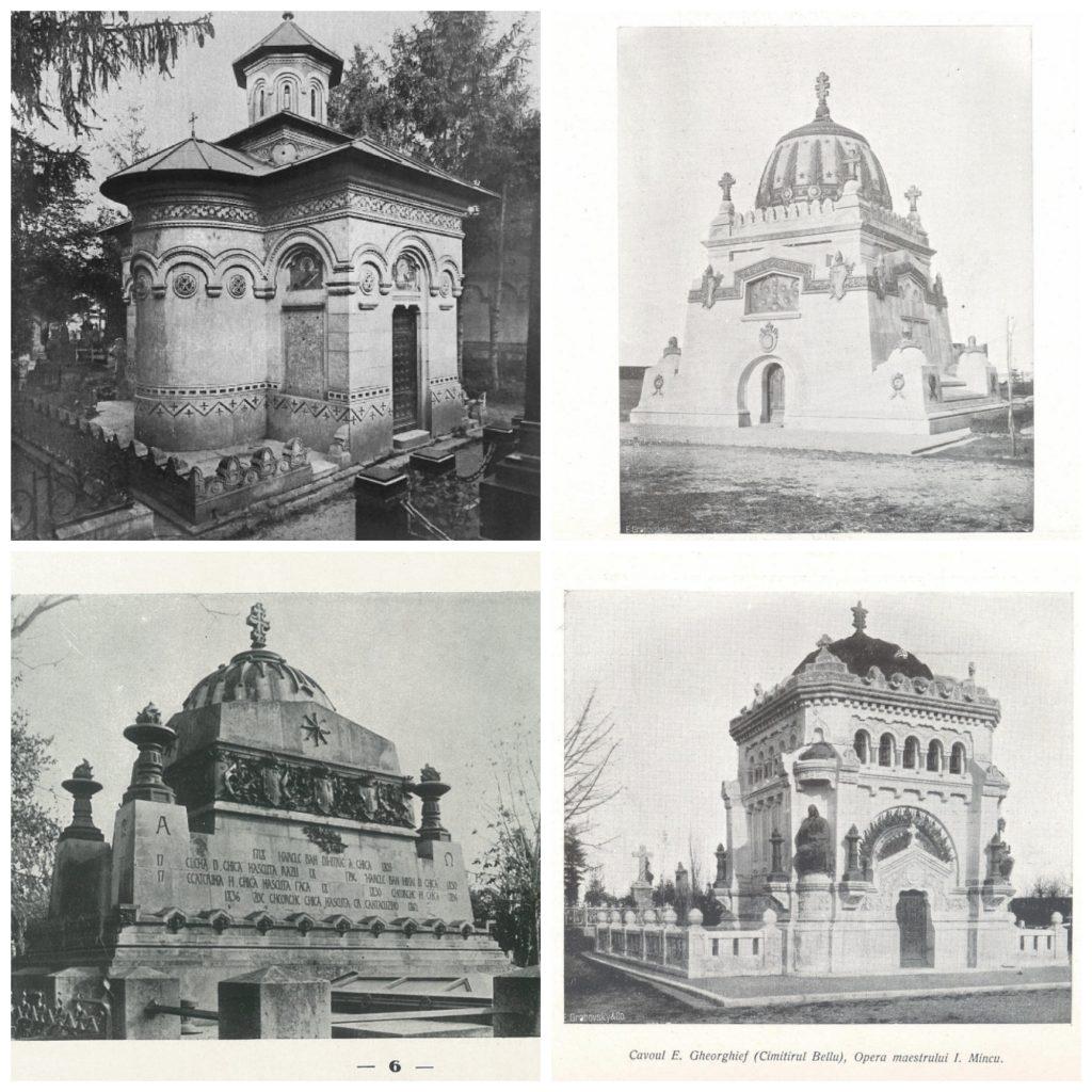patru cavouri din Cimitirul Bellu