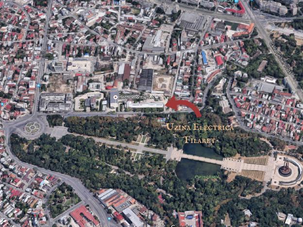 uzina electrică Filaret vedere google maps