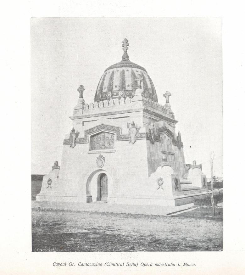 monumentul Cantacuzino cavouri din Cimitirul Bellu