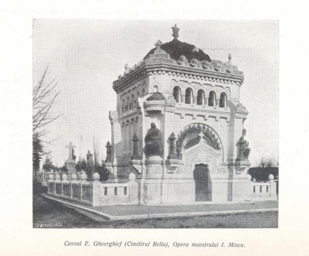 monumentul Gheorghief cavouri din Cimitirul Bellu