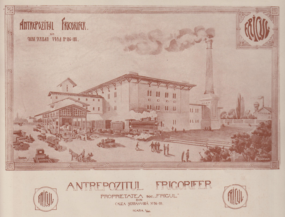 revista Arhitectura 1924 antrepozit frigorifer