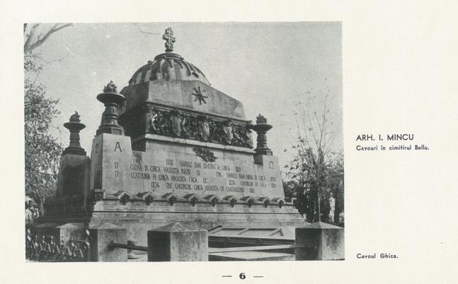 Monumentul Ghica cavouri din Cimitirul Bellu