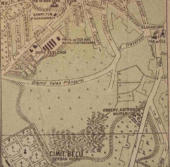 Valea Plangerii harta