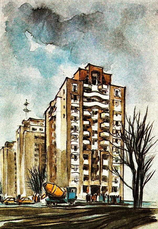 Noile blocuri-turn din Calea Vacaresti