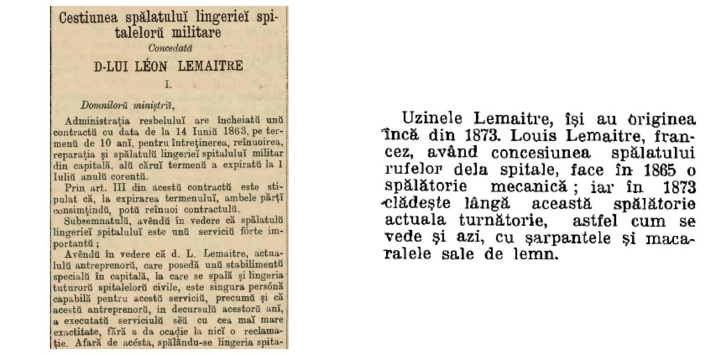 Stanga: Telegraphul din 1877, dreapta: Almanahul Argus din 1923