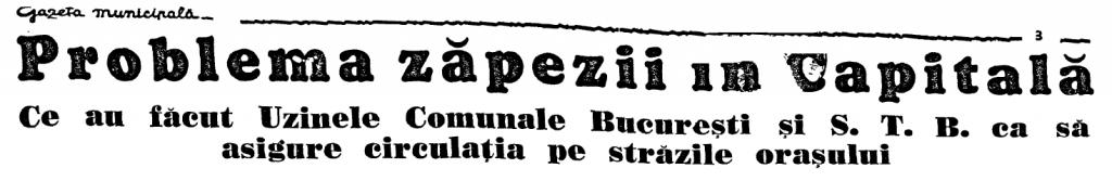 Sursa: Gazeta municipala, 15 ianuarie 1939