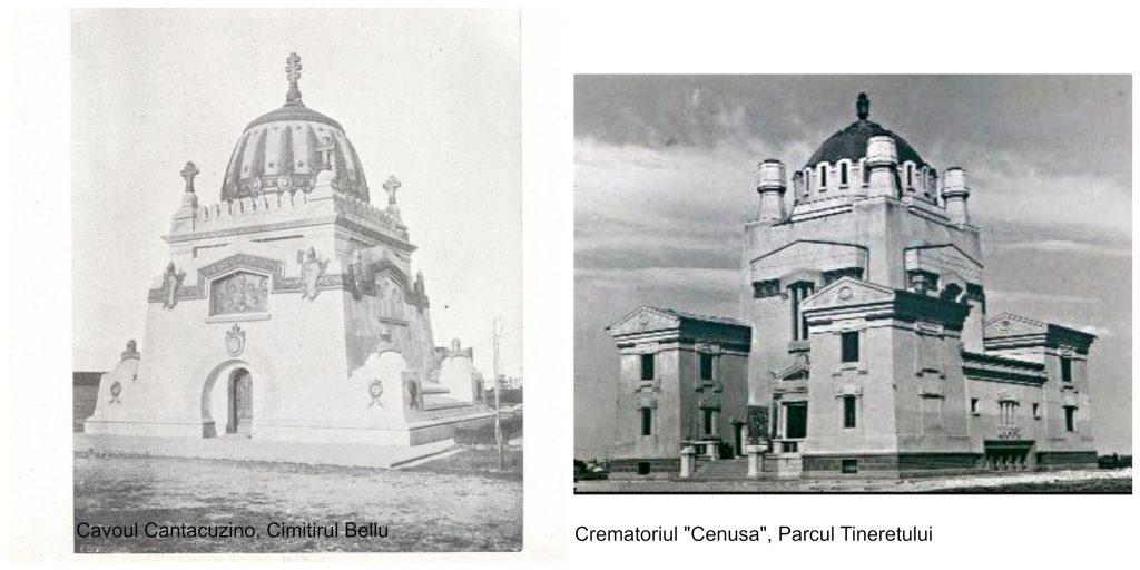 """Sursa stanga: revista """"Arhitectura"""", 1916 Sursa dreapta: Wikipedia"""