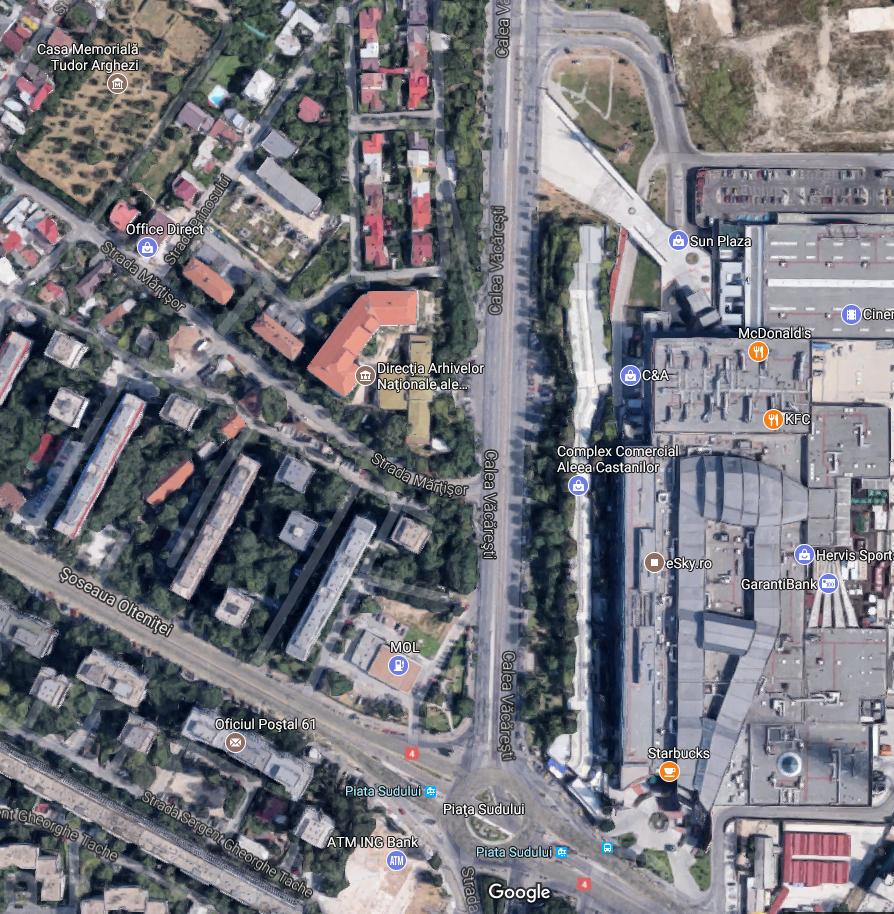 strada Detașamentului ascunsa sub strada Mărțișorului