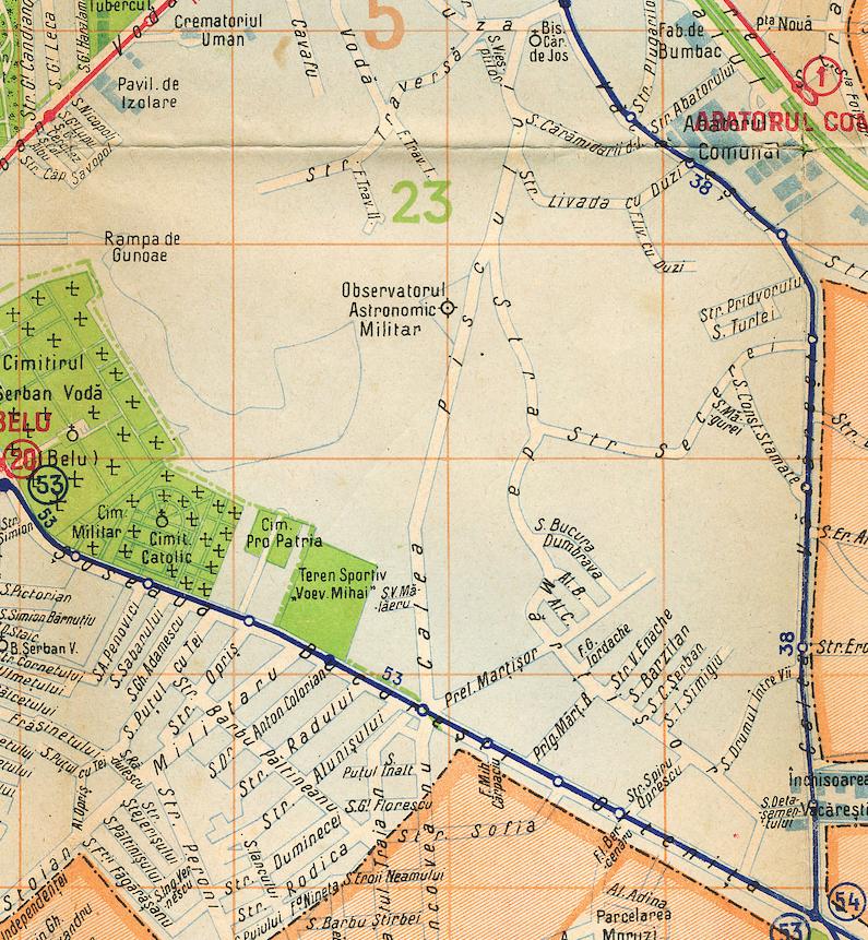 harta transporturilor 1938