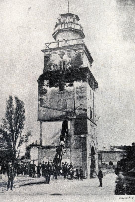 Turnul Colței în 1888, înainte de demolare