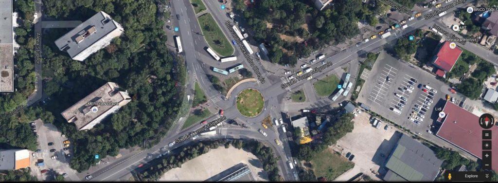 Cum va arăta intersecția Turnu Măgurele-Obregia-Metalurgiei după finalizarea proiectului
