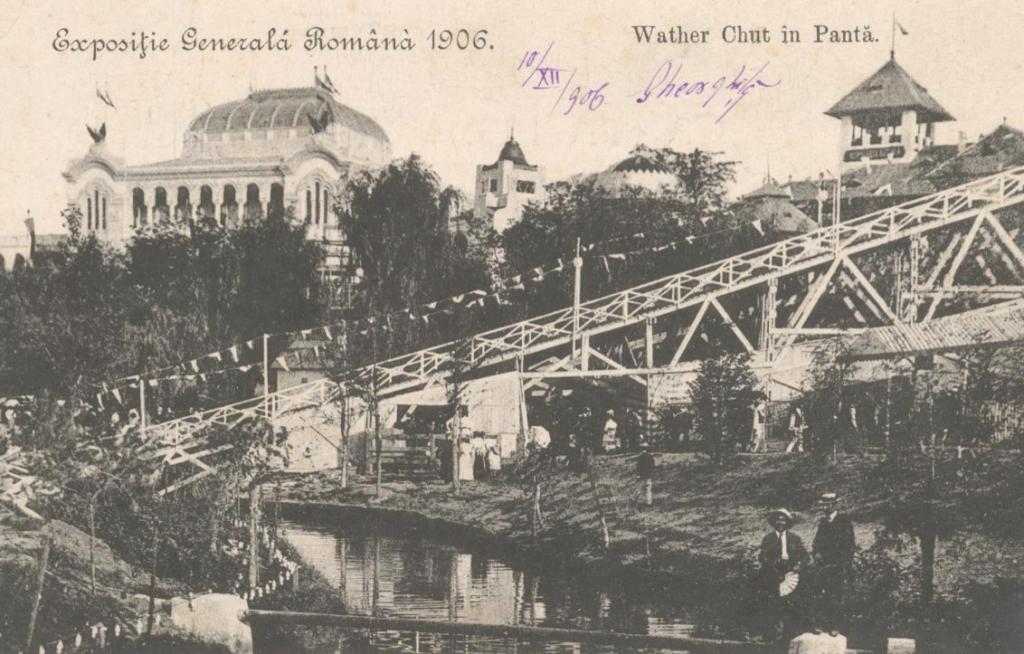 Sursa: digibuc.ro Exposiţie Generală Română 1906. Wather Chut în Pantă : [carte poştală ilustrată]