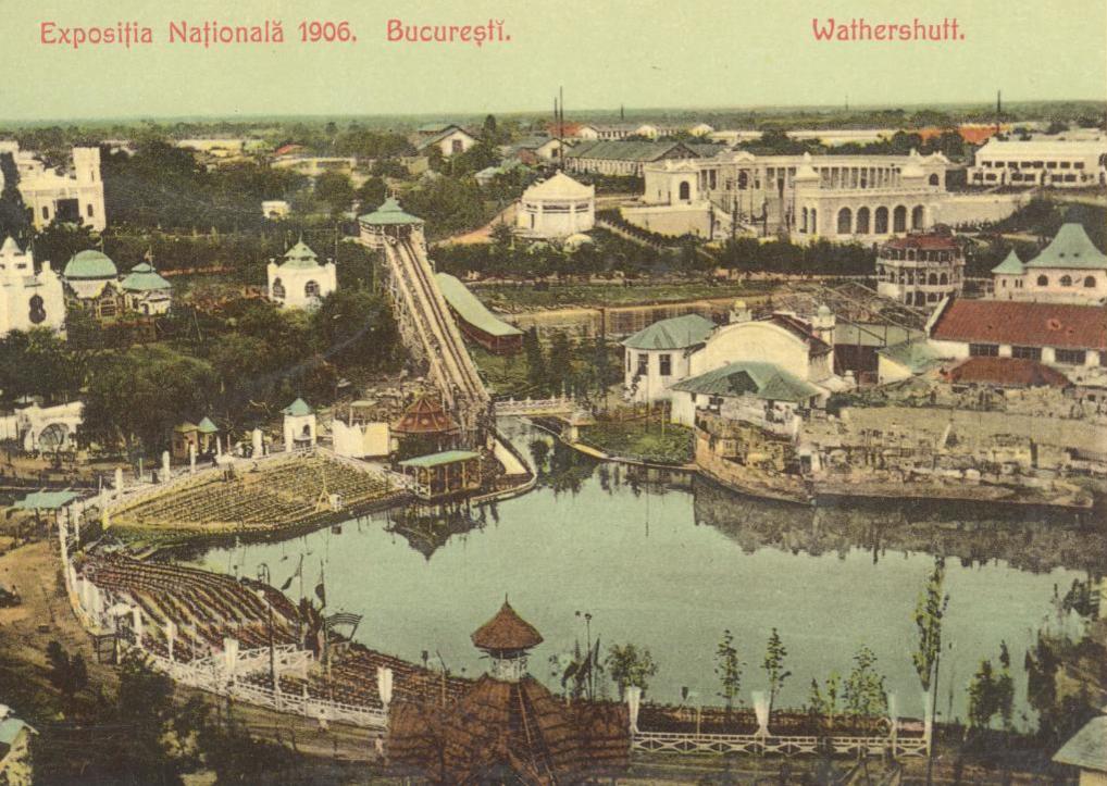 Sursa: digibuc.ro Exposiţia Naţională 1906. Bucureşti. Wathershutt : [carte poştală ilustrată]