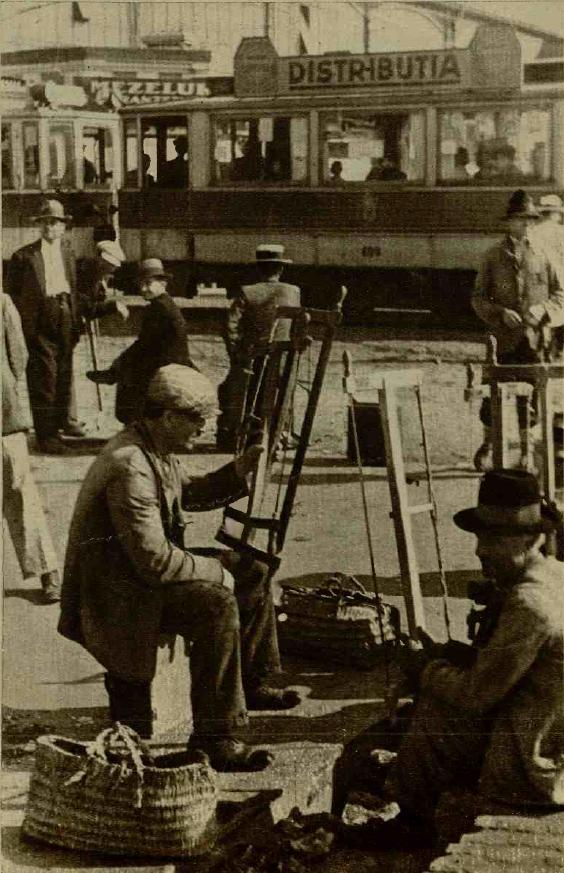 Tăietorii de lemne așteaptă clienții Sursa: Realitatea ilustrată 20 Noiembrie 1935