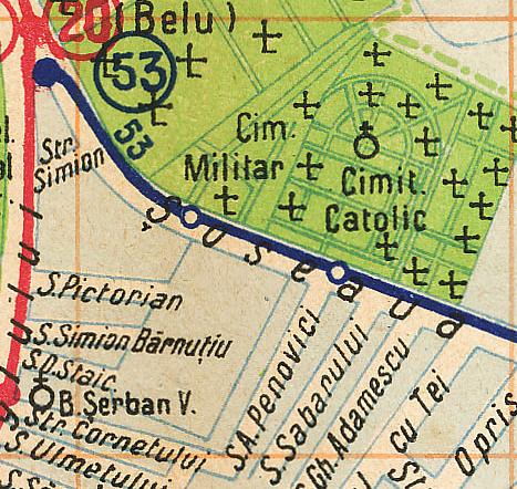București, harta transporturi 1938