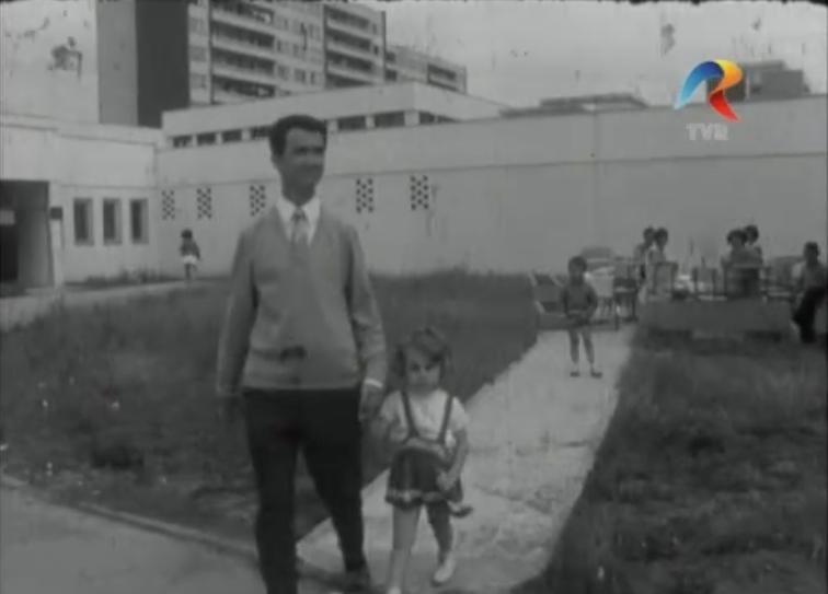 Ansamblul Berceni Sud 2 în construcție 1968 Sursa: euscreen.eu