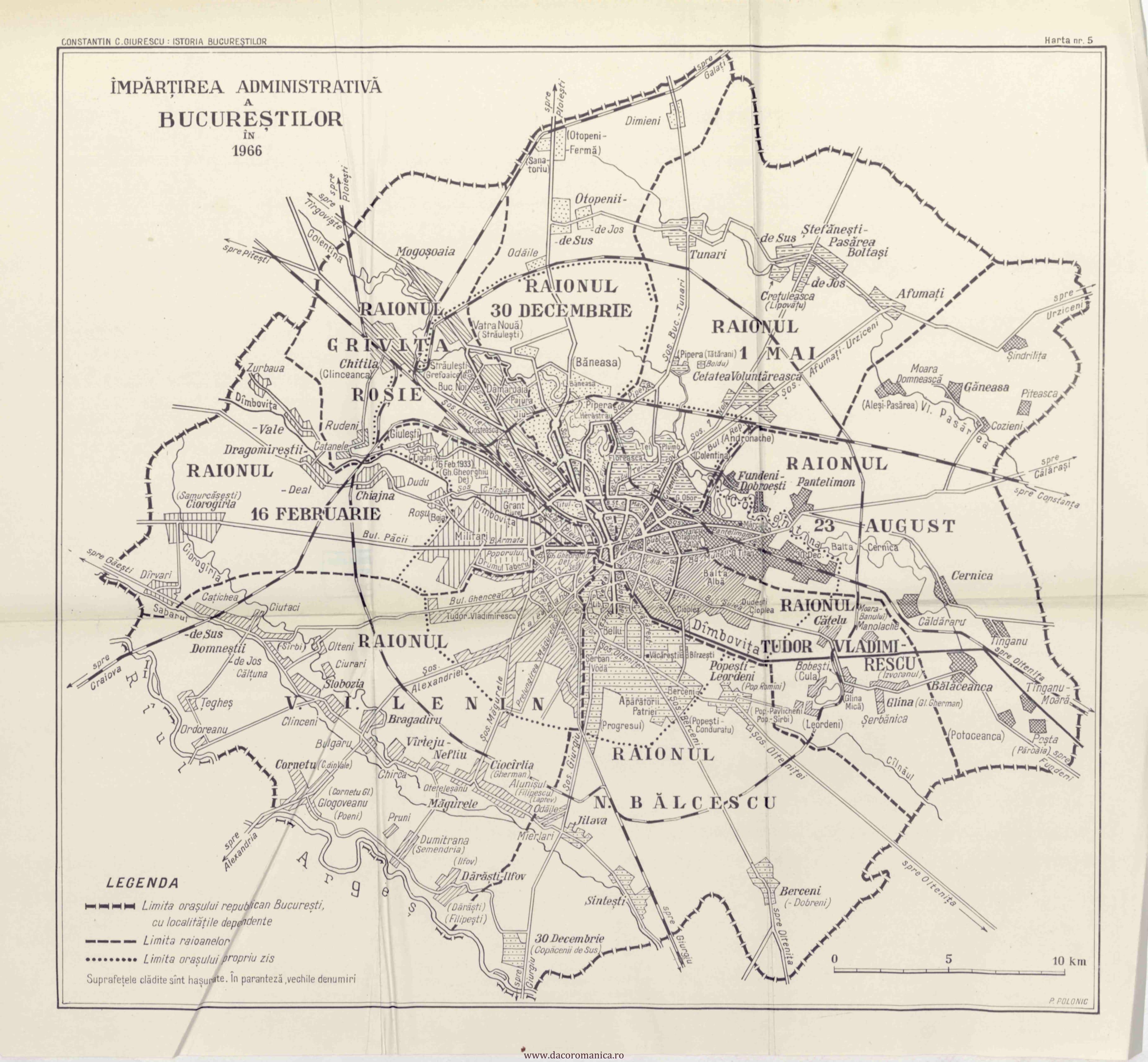 Bucureștiul In Vremea Raioanelor Hartă Din 1966 Berceni De Poveste