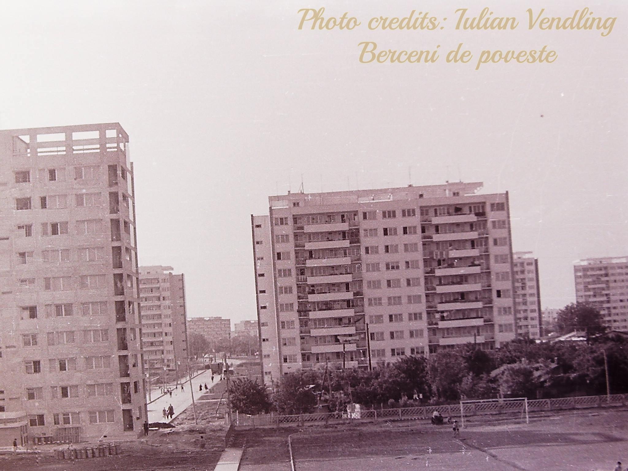 Vedere din curtea școlii 189, anul 1965