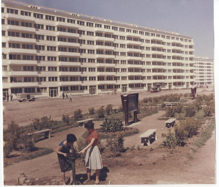 Drumul Găzarului în timpul construcției blocurilor tip P Sursa: wikipedia.ro