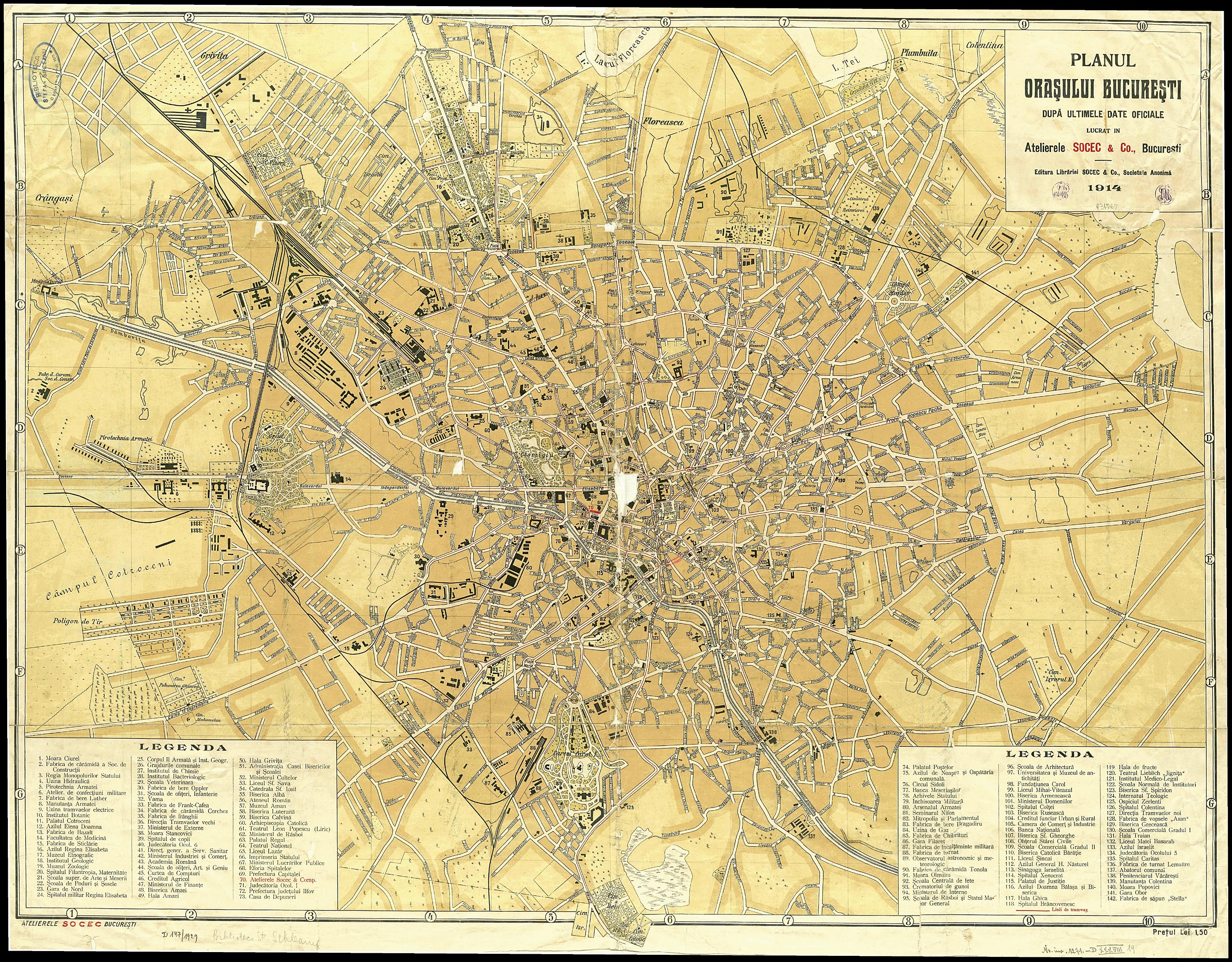 Bucuresti Harta 1914 Socec Berceni De Poveste