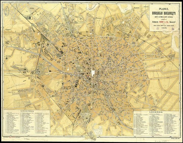 harta Bucuresti 1914