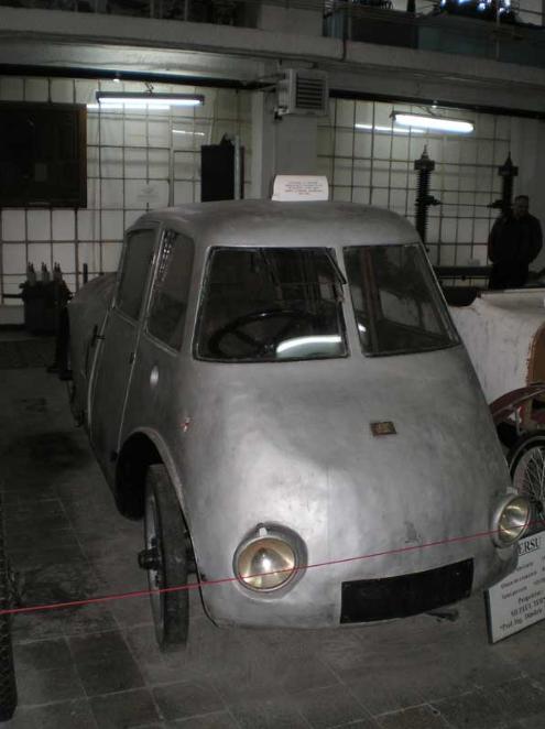 primul automobil aerodinamic din lume Aurel Perșu față