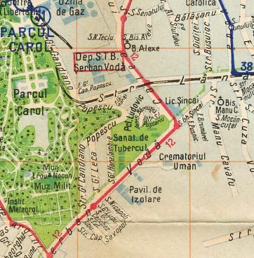 spitalul scarlat longhin harta 1938
