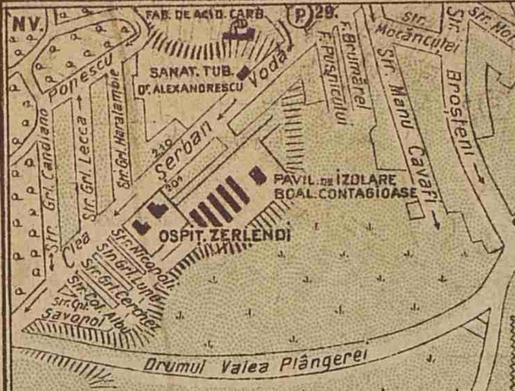 spitalul clinic de dermato-venerologie harta 1922