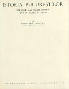 cărți de citit București vechi Giurescu